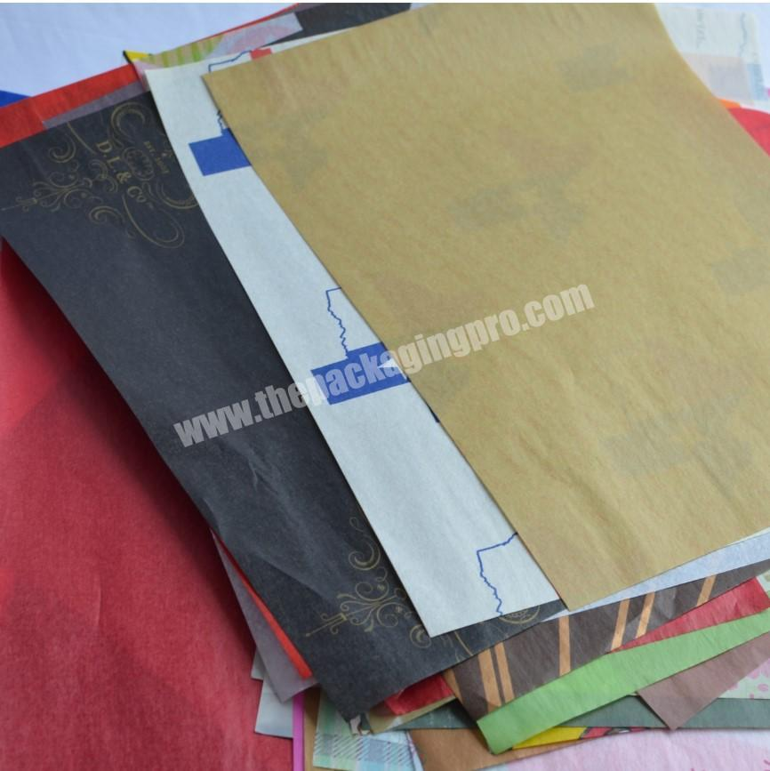 Factory custom made craft paper tissue paper for wrapping wine bottle cloth and shoe