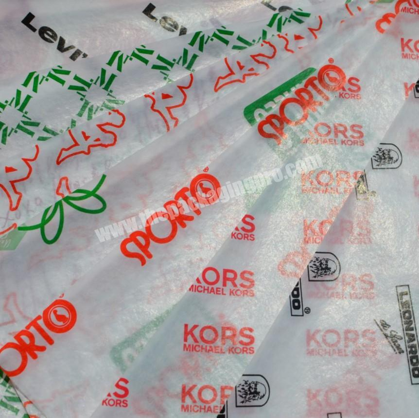 Shop custom made wax paper grease paper tissue paper for wrapping wine bottle cloth and shoe