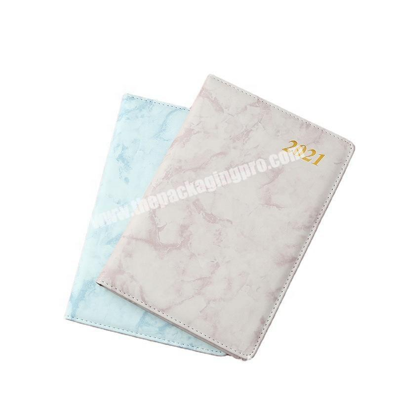 Custom Marble Hardcover Pink White Diary Notebook Small Pu Leather Marble Cute Printing Traveler Journal Writing Girls Notebook