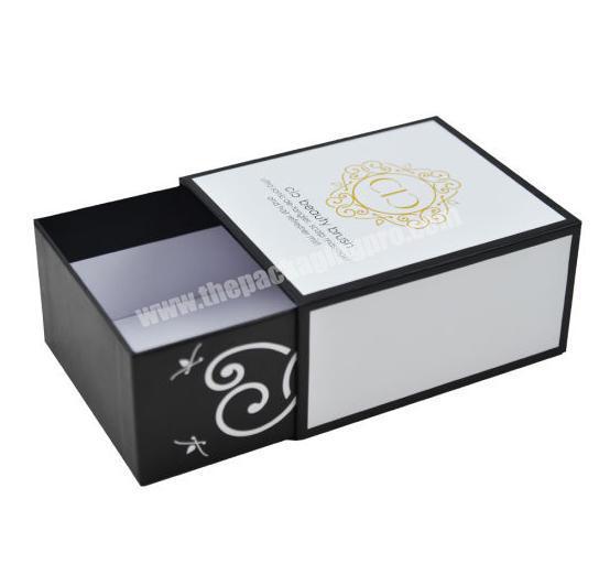Custom Matte White Sliding Paper Drawer Box Packaging for Brush