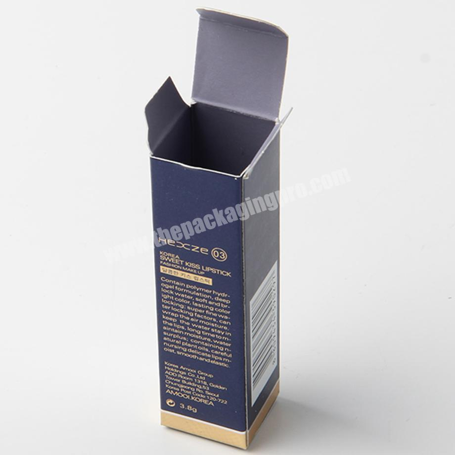Manufacturer custom new luxury paper cosmetic packaging lipstick packaging box