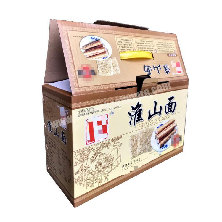 custom packaging box takeout boxes with handle corrugated shipping boxes