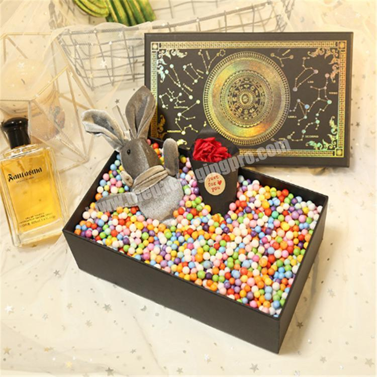 custom packaging cardboard box with clear lid gift boxes