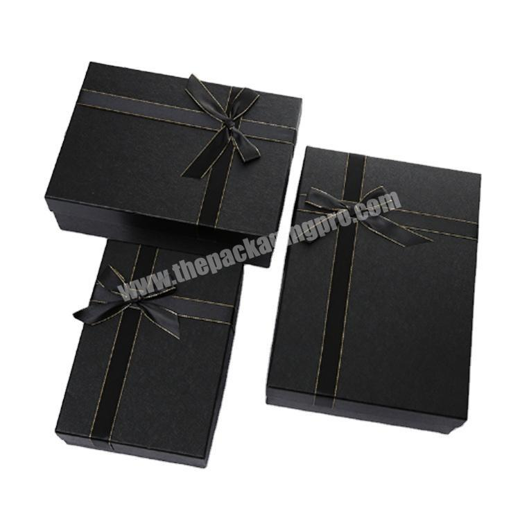 custom packaging cardboard box with lid brown gift boxes
