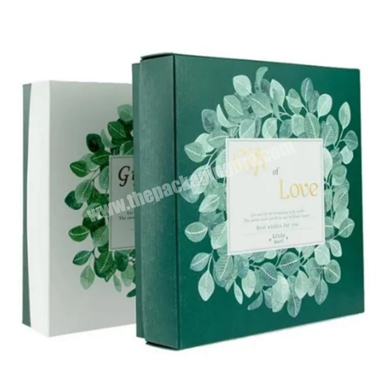 custom packaging double wall cardboard box with lid gift box