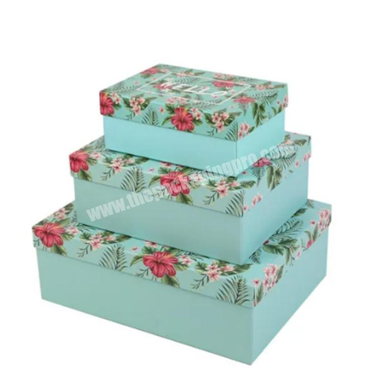 custom packaging gift boxes with window lid shipping boxes