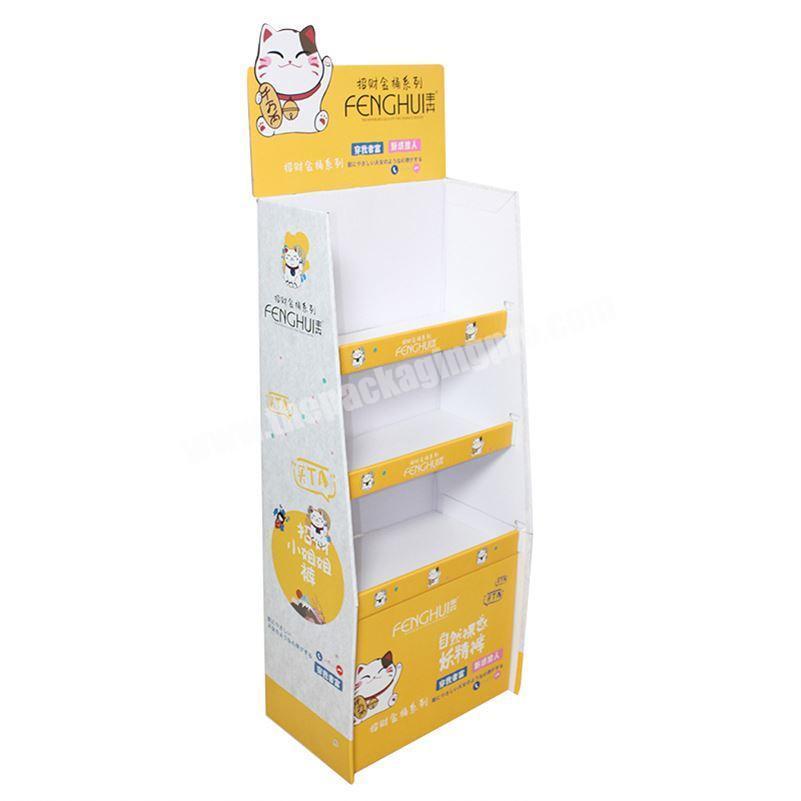 Custom Pallet Dump Bin Hanging Mop Broom cardboard display rack for household