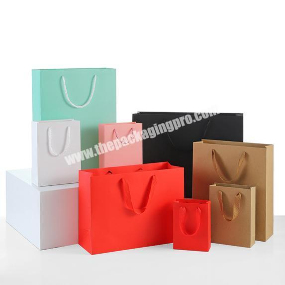 Custom Print Luxury Shopping Paper Bags With Handles
