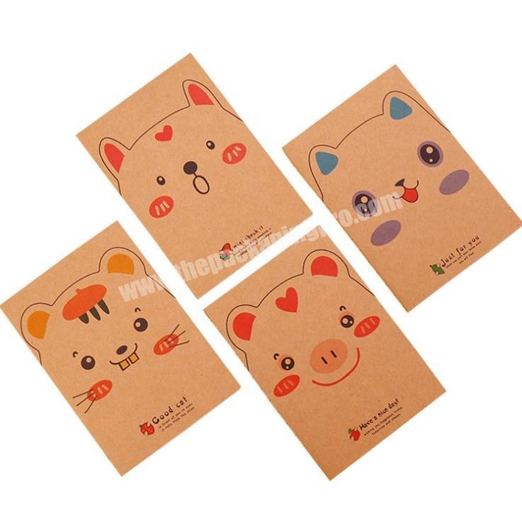 Custom Print Recyle Soft Cover School Exercise Book Pocket Notepad Kraft Paper A6 Sketch Book