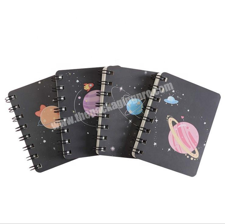 Custom Print White paper Soft Cover School Exercise Book Pocket Notebook A6 Spiral Notebook