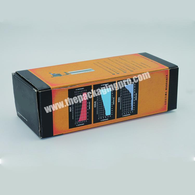 Custom printed corrugated cardboard made small product packaging box with windows