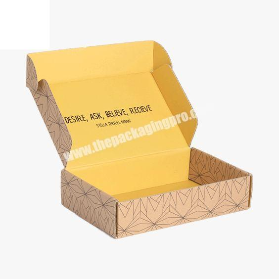 Custom Custom Printed Corrugated Foldable Cardboard Packaging Two Tuck End Paper Shipping Box With Logo