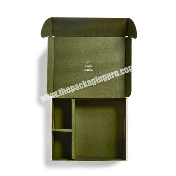 Factory Custom Printed Corrugated Foldable Cardboard Packaging Two Tuck End Paper Shipping Box With Logo