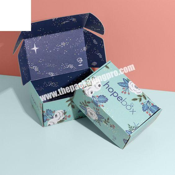 Wholesale Custom Printed Corrugated Foldable Cardboard Packaging Two Tuck End Paper Shipping Box With Logo