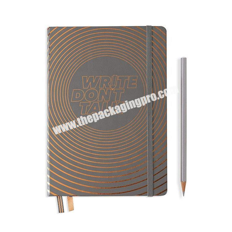 Custom Printed Daily Leather Bound Journal Hardcover Notebook With Pen Loop Wholesale Luxury Planners And Notebook With Gift Box