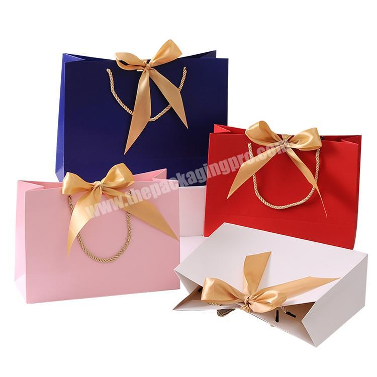 Custom Printed Paper Ribbon Christmas Gift Bag Machine Price