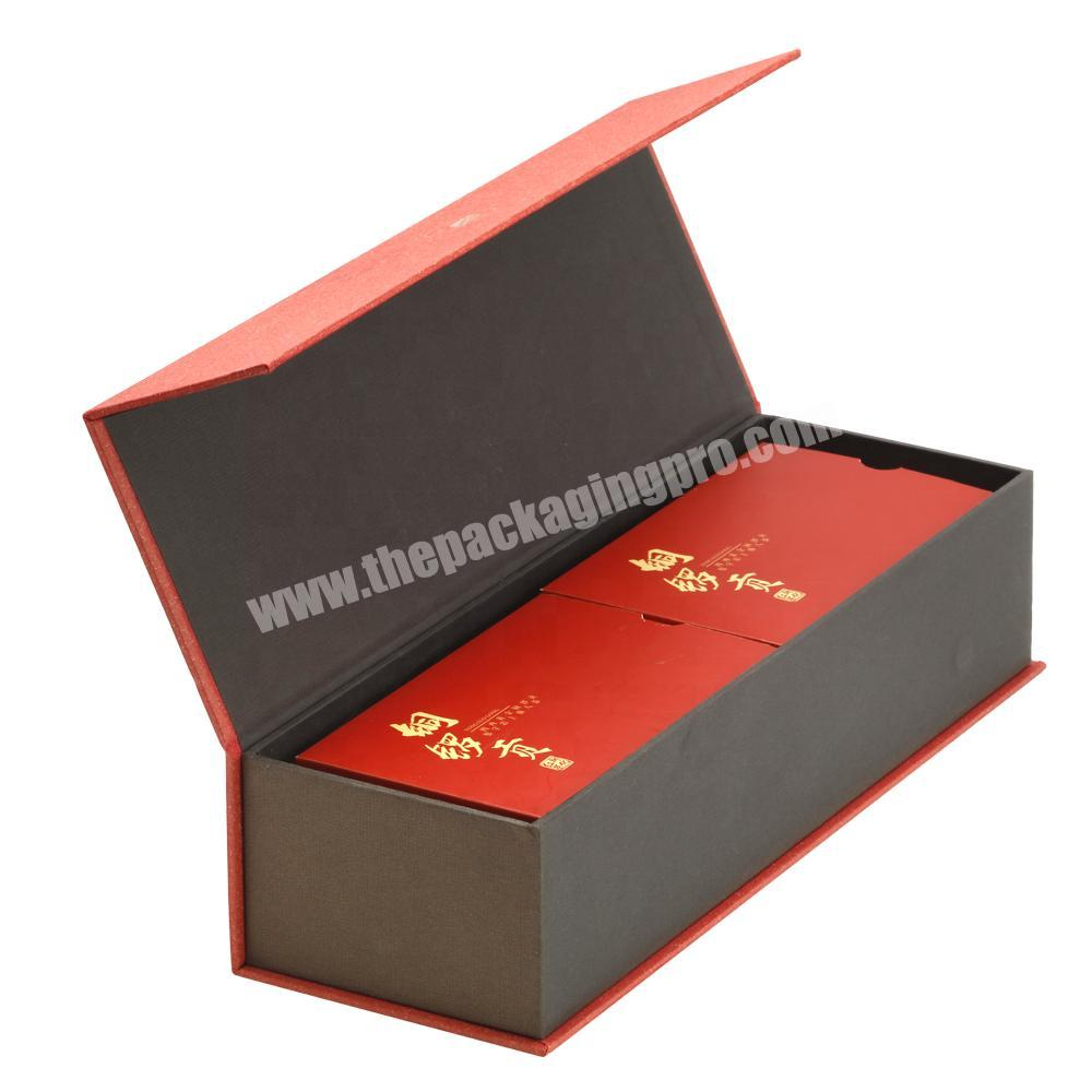 Custom Printing High Quality Lid Flipped Rigid Paper Box with Magnet & Paper Card Tray for Tea Cigarettes