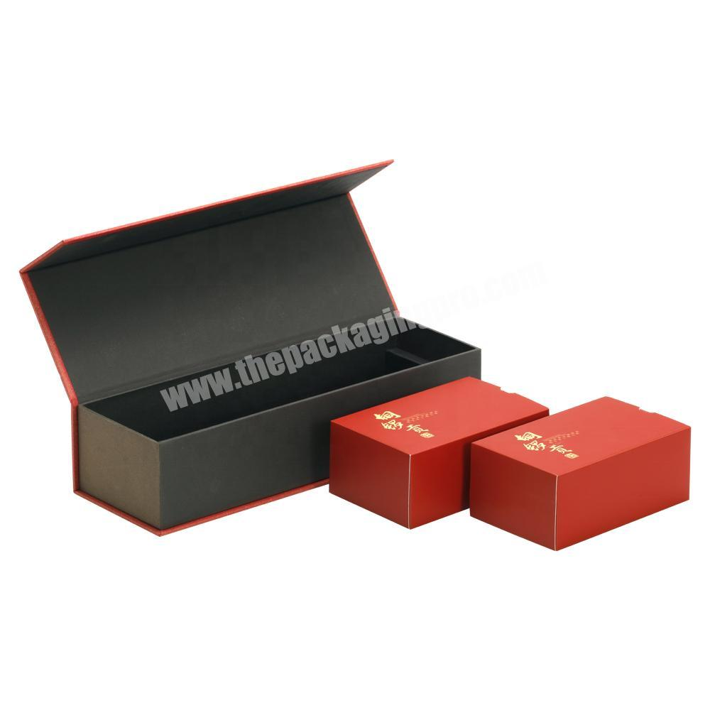 Wholesale Custom Printing High Quality Lid Flipped Rigid Paper Box with Magnet & Paper Card Tray for Tea Cigarettes