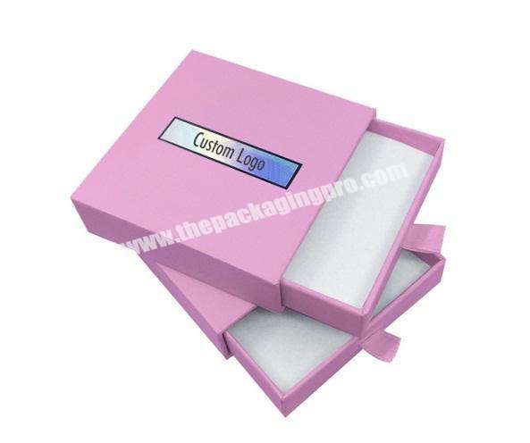 custom printing luxury hard recycled small jewelry wedding gift packaging drawer paper box