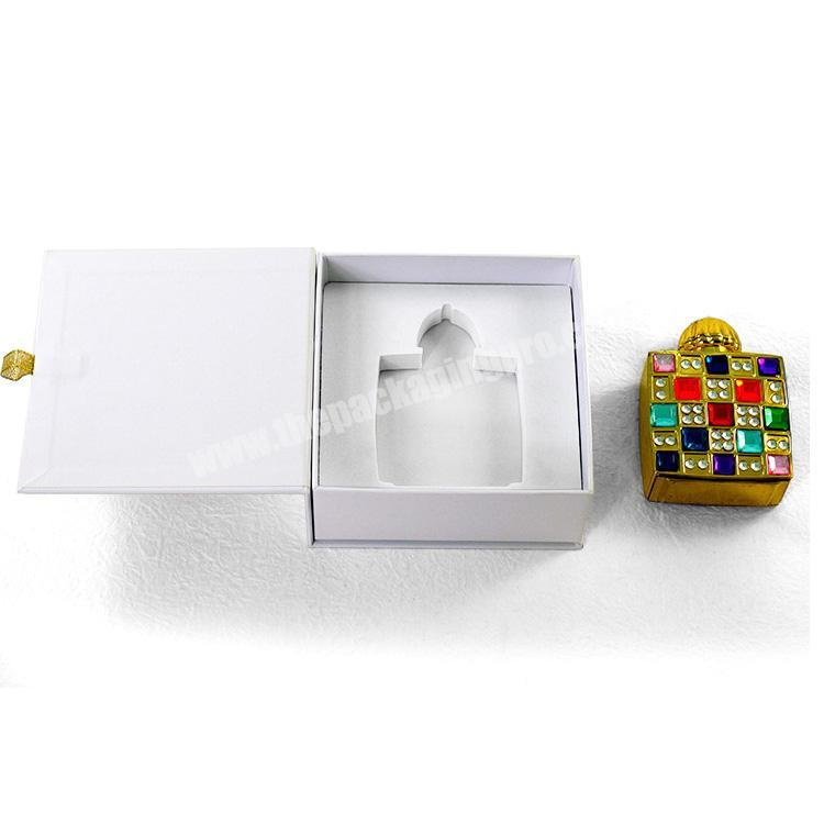 Custom printing magnetic white recyclable perfume boxes perfume package