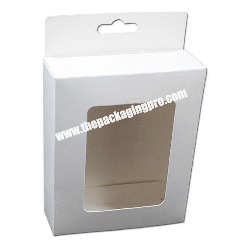 Custom Printing Small Foldable Brown Kraft Corrugated White Phone Case Box With Window