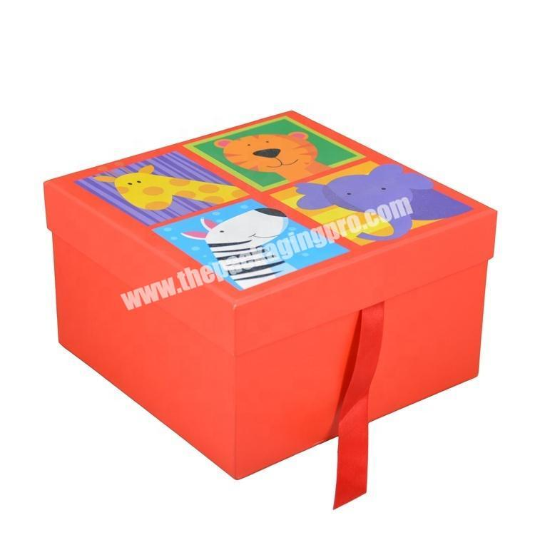 Custom product packaging box printed cardboard Children's toy box