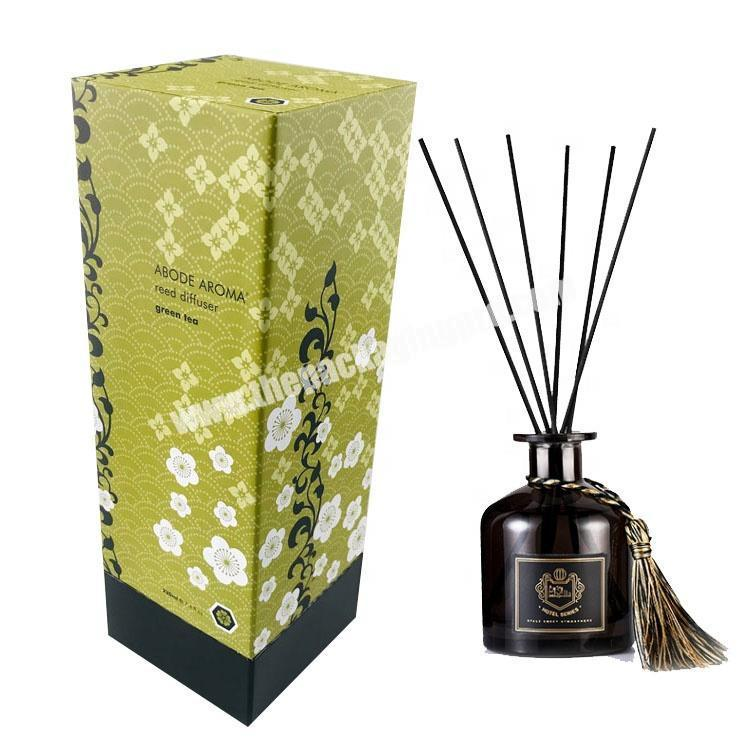 Custom rectangle tall aroma reed diffuser packaging box for home fragrance