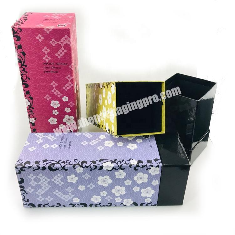Wholesale Custom rectangle tall aroma reed diffuser packaging box for home fragrance