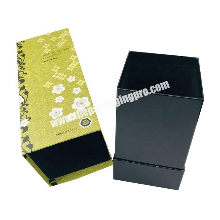 Supplier Custom rectangle tall aroma reed diffuser packaging box for home fragrance