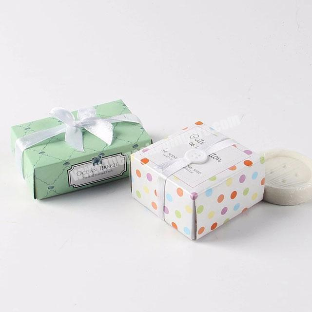 Custom recyclable soap paper packaging cardboard boxes for soap