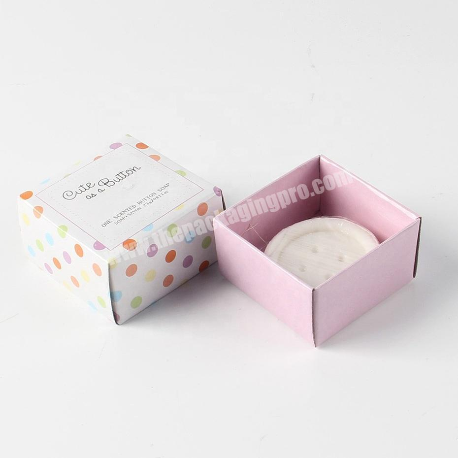 Manufacturer Custom recyclable soap paper packaging cardboard boxes for soap