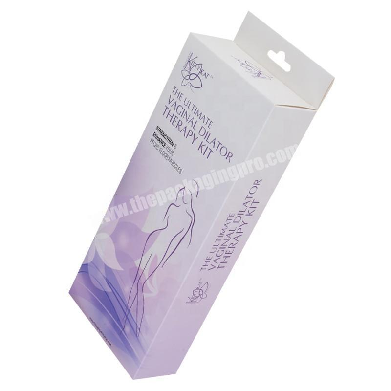Custom retail paper box women adult product packaging products