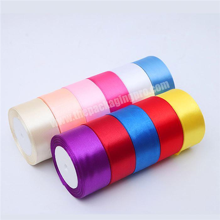Custom Custom Satin Ribbon Printed Heat Transfer Printing Double Face Ribbon Satin