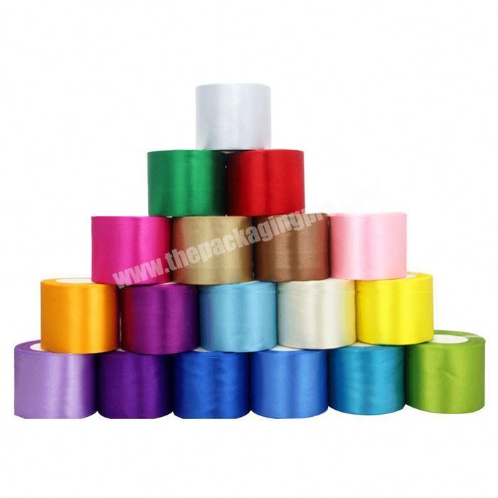 Manufacturer Custom Satin Ribbon Printed Heat Transfer Printing Double Face Ribbon Satin