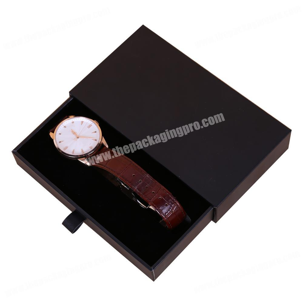 Custom Slide Box With EVA Insert Lady And Man Luxury Gift packaging Watch Box