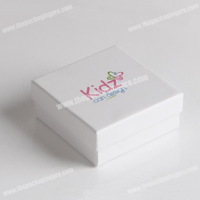 Custom Small White Paperjewelry Gift Boxes With Clear Lids