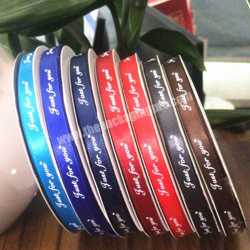 Custom Solid Color Cheap Printed Satin Ribbon For Clothes