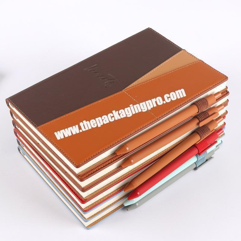 Supplier Custom Stationery Luxury Refillable Ring Binding Notebooks Gift Set Business Office  Pu Leather Notebook With Box And Pen