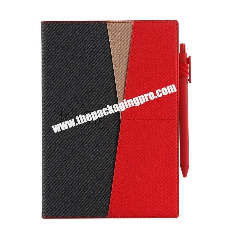 Wholesale Custom Stationery Luxury Refillable Ring Binding Notebooks Gift Set Business Office  Pu Leather Notebook With Box And Pen