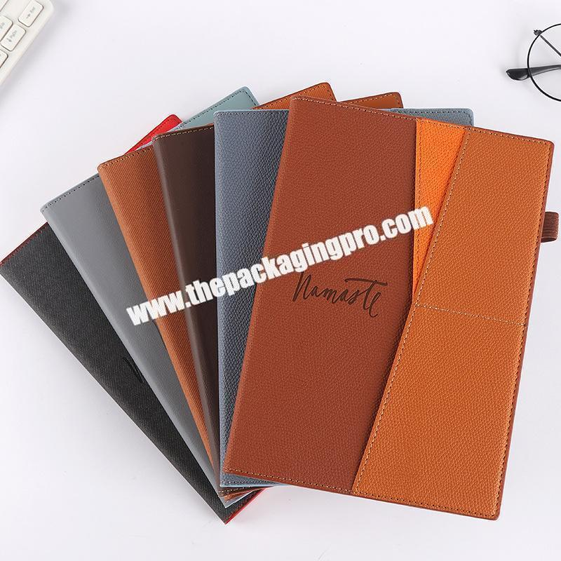 Factory Custom Stationery Luxury Refillable Ring Binding Notebooks Gift Set Business Office  Pu Leather Notebook With Box And Pen
