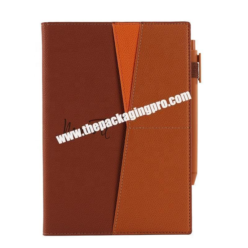 Manufacturer Custom Stationery Luxury Refillable Ring Binding Notebooks Gift Set Business Office  Pu Leather Notebook With Box And Pen