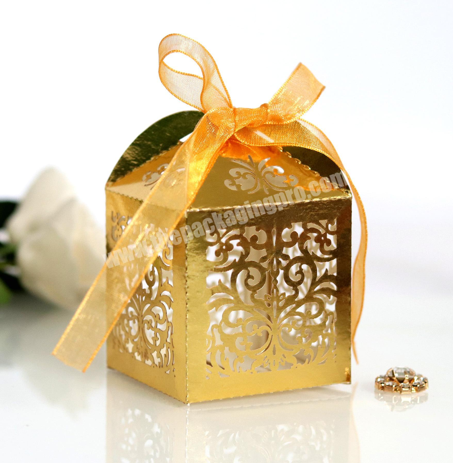 Custom sweet gift box environmentally friendly universal hollow wedding chocolate packing box