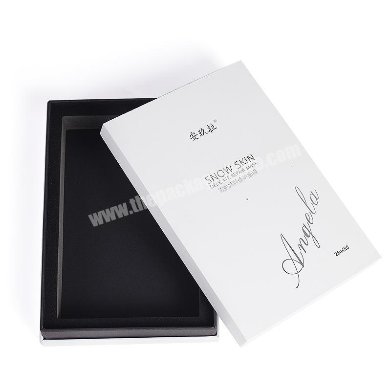 custom top and base envases para cardboard paper boxes for cosmetic facial mask sheet packaging box