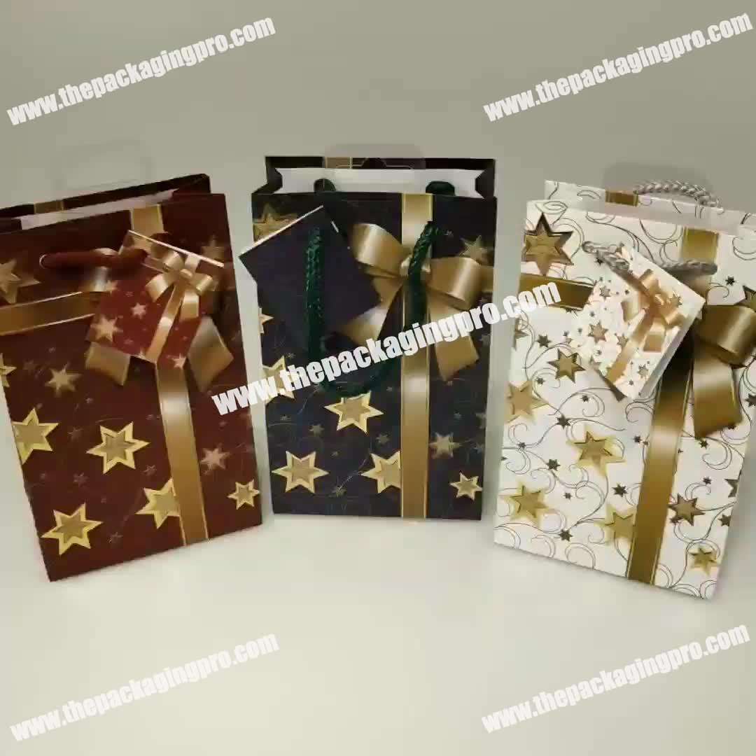 Custom Unique High Quality Lucky Birthday Party Wedding Gift Packaging Hot Selling Paper Bags