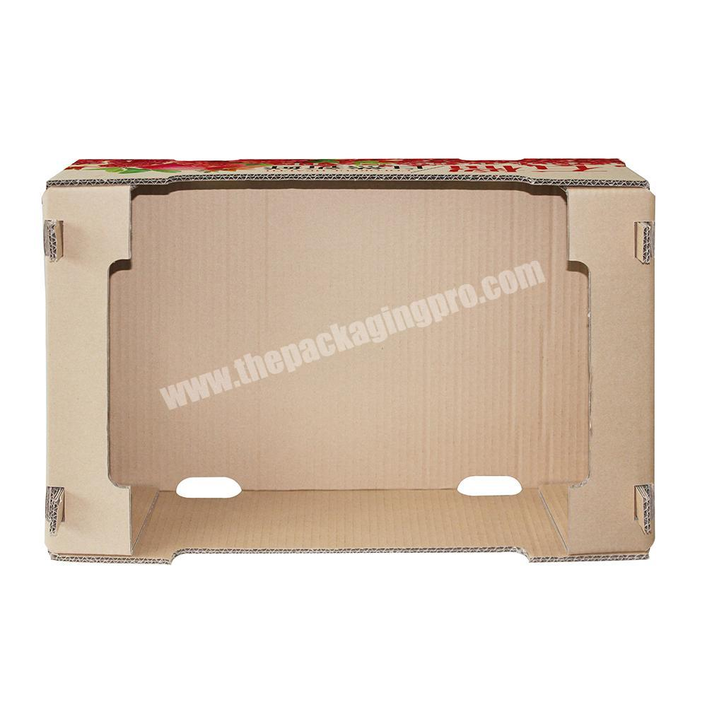 Custom Custom vegetable fruit packing corrugated carton box