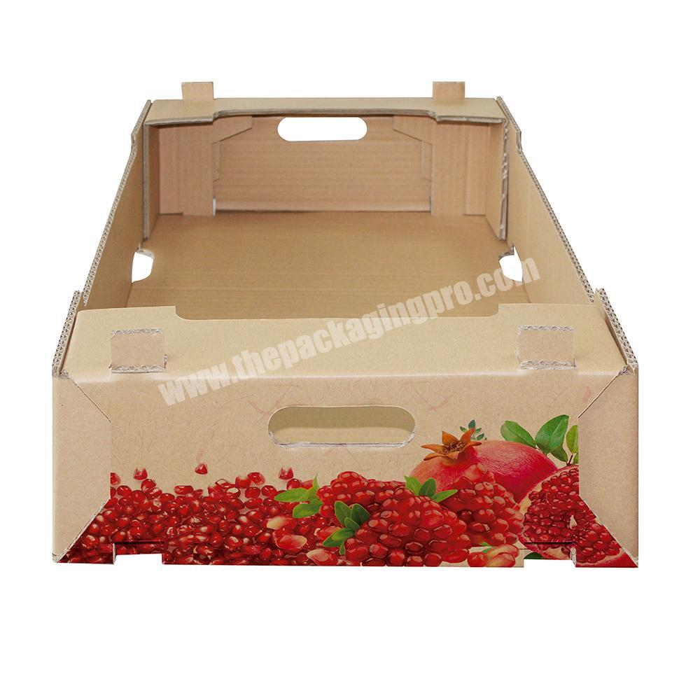 Wholesale Custom vegetable fruit packing corrugated carton box