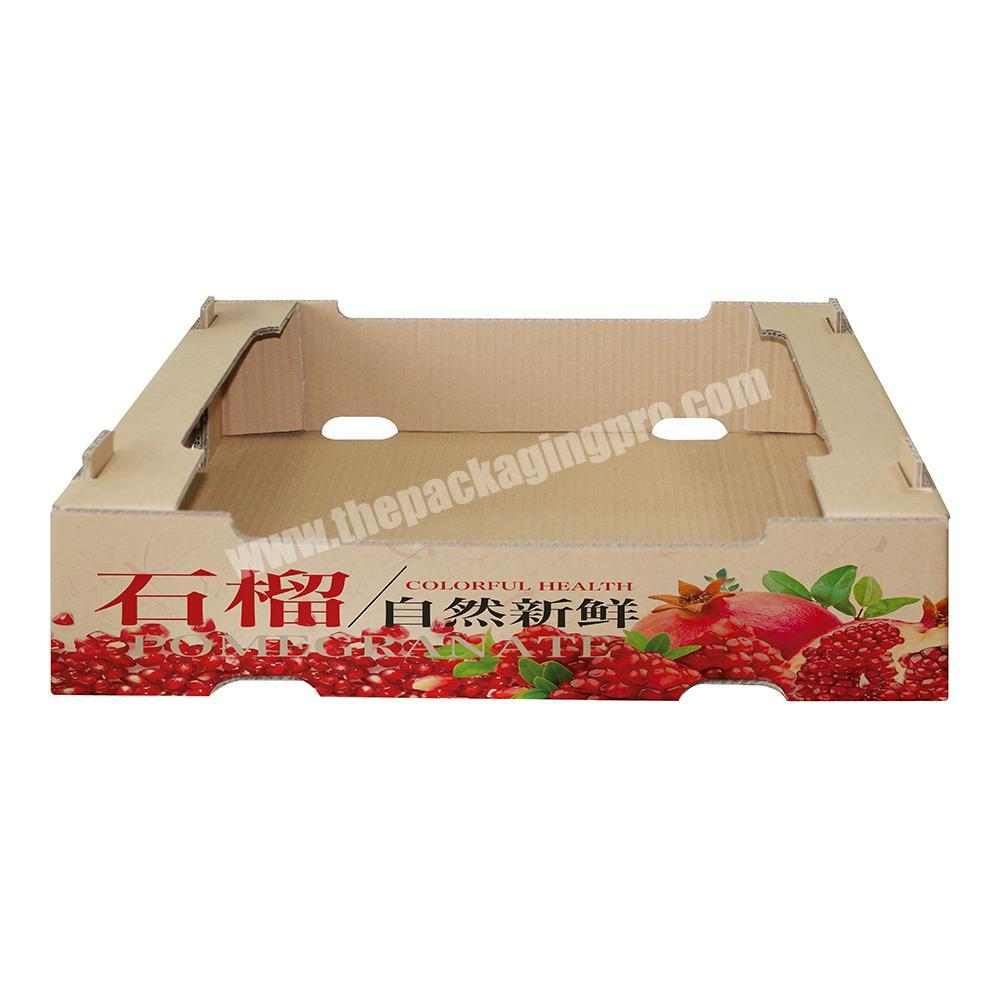 Supplier Custom vegetable fruit packing corrugated carton box