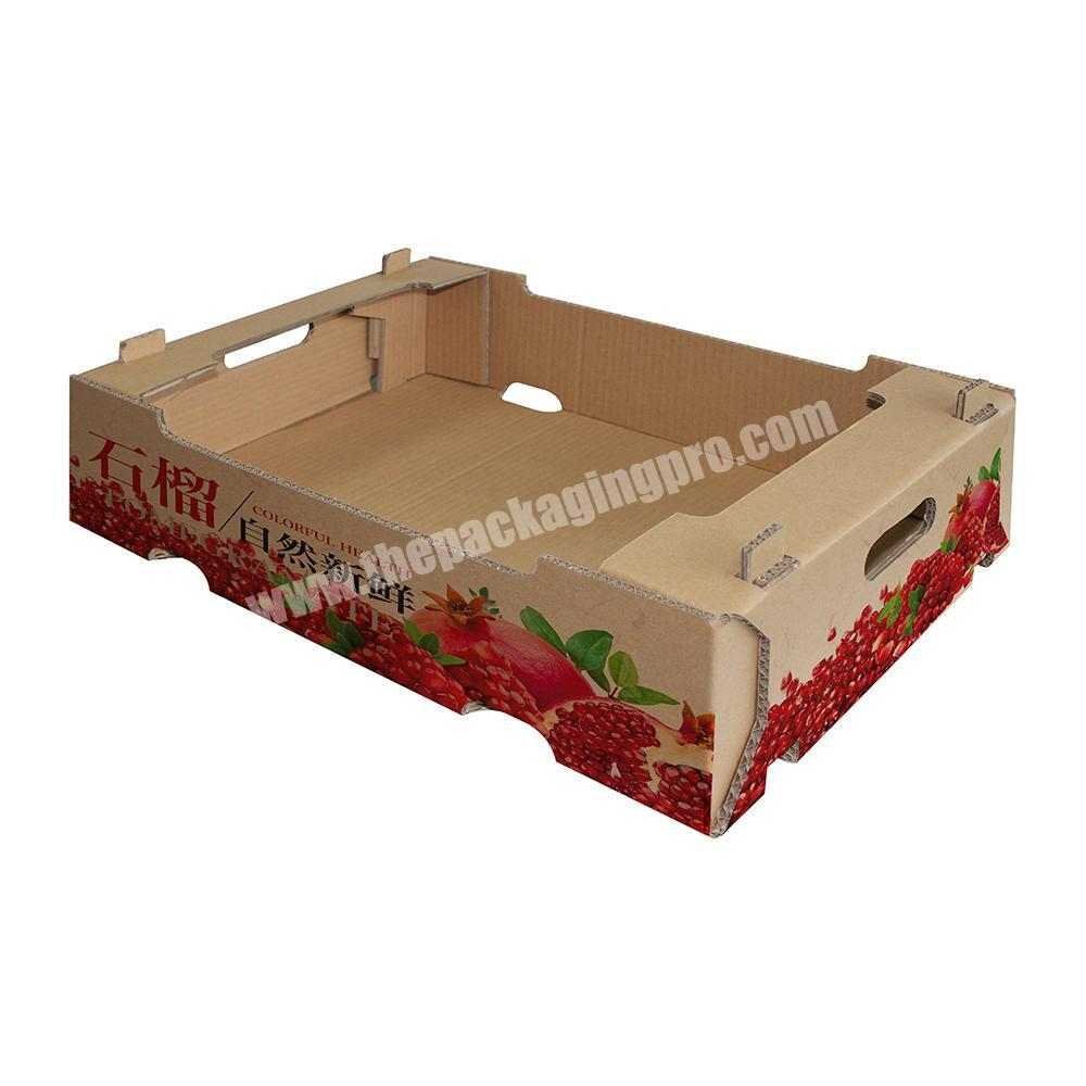Manufacturer Custom vegetable fruit packing corrugated carton box