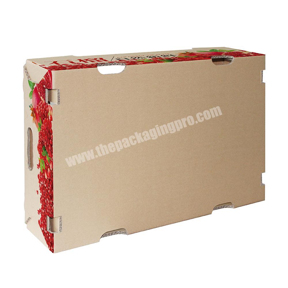 Factory Custom vegetable fruit packing corrugated carton box
