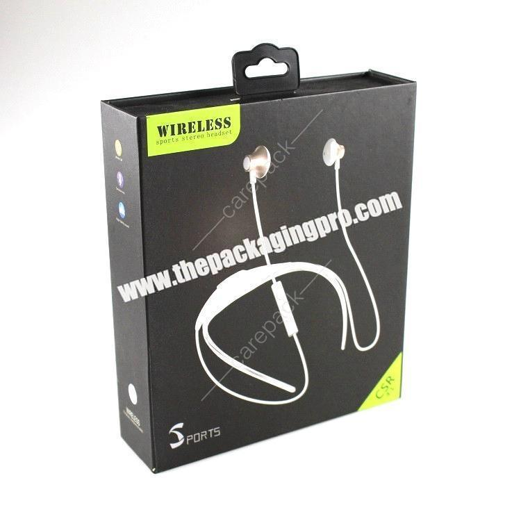 Custom White Electronic Music Bluetooth Headset Packaging Box For headset With EVA Inlay